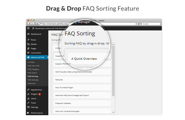 Drag Drop FAQ Sorting Feature FAQ FAQ Sorting Sorting FAQ It. Aquickoverview PI,p., Ph.S